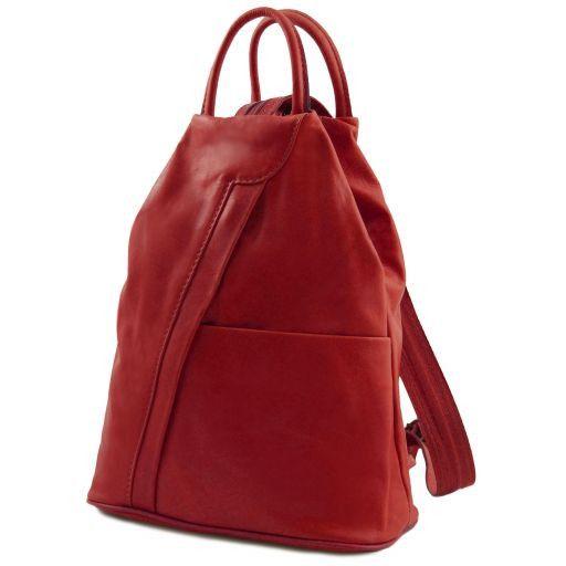 Shanghai Рюкзак из мягкой кожи Красный TL140963