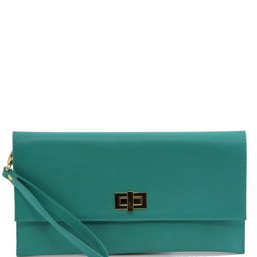 TL Bag Leather clutch Turquoise TL141109