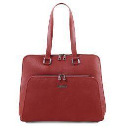 Lucca Borsa business TL SMART in pelle morbida per donna Rosso TL141630