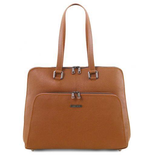 Lucca Sac business TL SMART en cuir souple pour femme Cognac TL141630