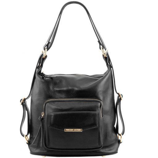 TL Bag Leather convertible bag Black TL141535