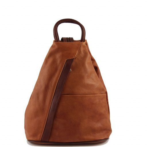 Shangai Leather backpack Cognac TL90108