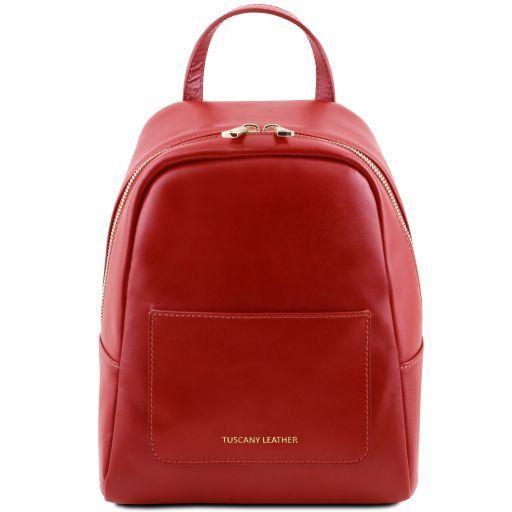 TL Bag Kleiner Lederrucksack für Damen Rot TL141614