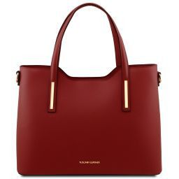 Olimpia Leather tote Red TL141412
