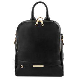 TL Bag Sac à dos pour femme en cuir souple Noir TL141376