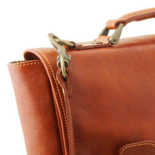 Trieste Esclusiva cartella porta notebook in pelle con 2 scomparti Miele TL141662
