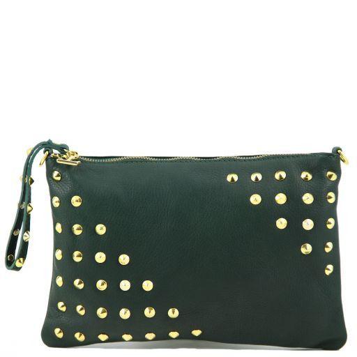 TL Rockbag Borsa con borchie sul manico - Grande Verde scuro TL141122