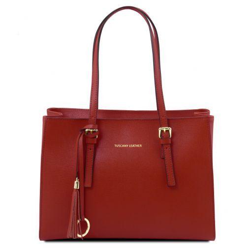 TL Bag Schultertasche aus Saffiano Leder Rot TL141518