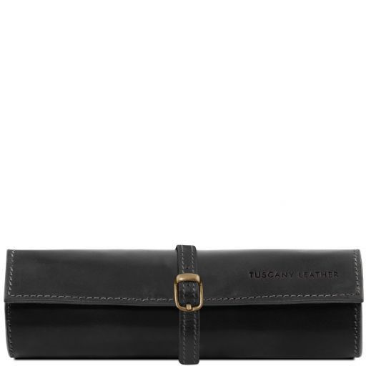 Exclusive leather jewellery case Black TL141621