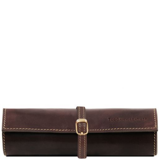 Exclusive leather jewellery case Dark Brown TL141621