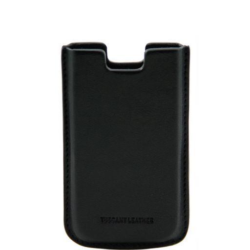 Эксклюзивный кожаный чехол для iPhone SE/5s/5 Черный TL141128