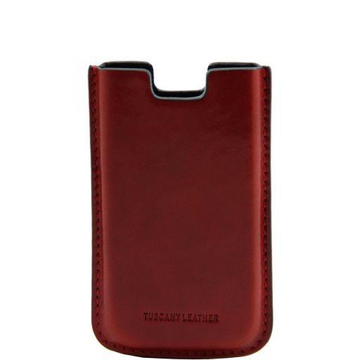 Esclusivo porta iPhone SE/5s/5 in pelle Rosso TL141128