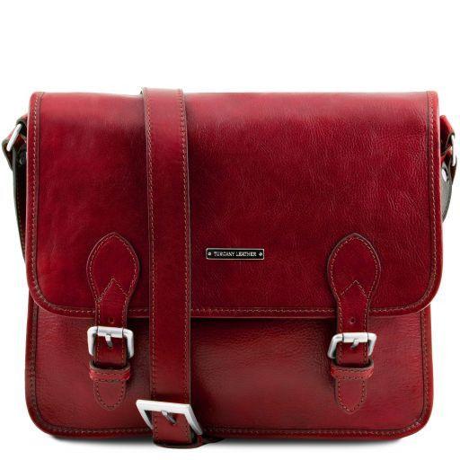 aa4cb428c09e TL Postman Leather Messenger bag Red TL141288