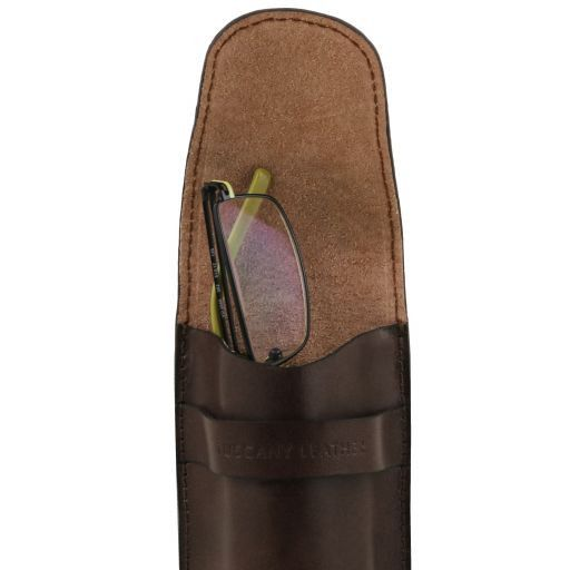 Esclusivo portaocchiali/Smartphone/porta orologio a tracolla in pelle Testa di Moro TL141282