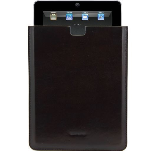 Leather iPad case Dark Brown TL141129