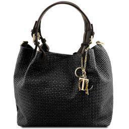 TL KeyLuck Tasche aus geprägtem Leder Schwarz TL141573