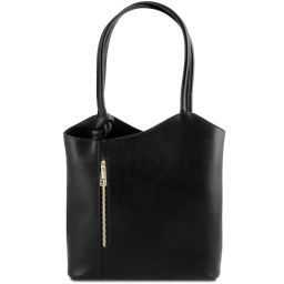 Patty Saffiano leather convertible bag Black TL141455