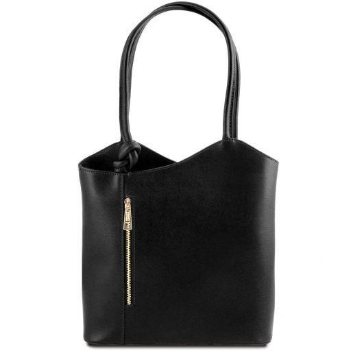 Patty Saffiano leather convertible bag Black TL141455