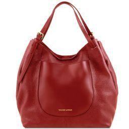 Cinzia Soft leather shopping bag Красный TL141515