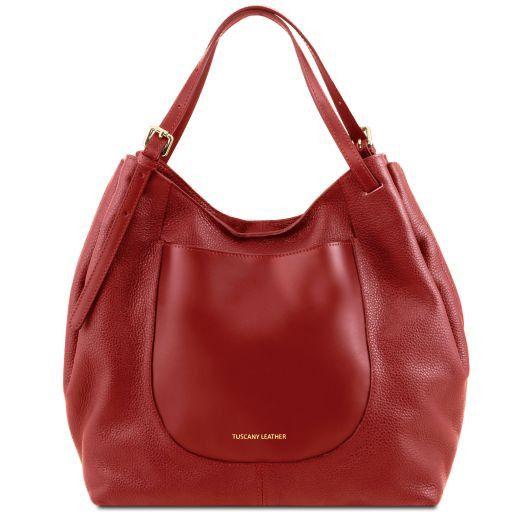 Cinzia Shopping Tasche aus weichem Leder Rot TL141515