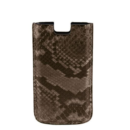 Эксклюзивный чехол для iPhone SE/5s/5 из кожи питона Gunmetal Grey TL141130