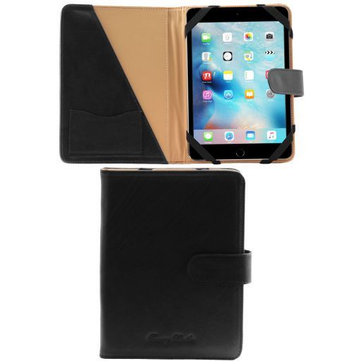 Porta iPad Mini 4 in pelle con bottone Nero TL141171