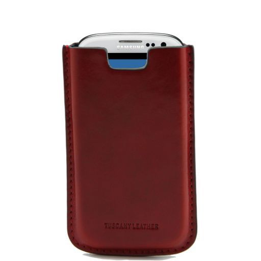 Esclusivo porta Galaxy S3 in pelle Rosso TL141140