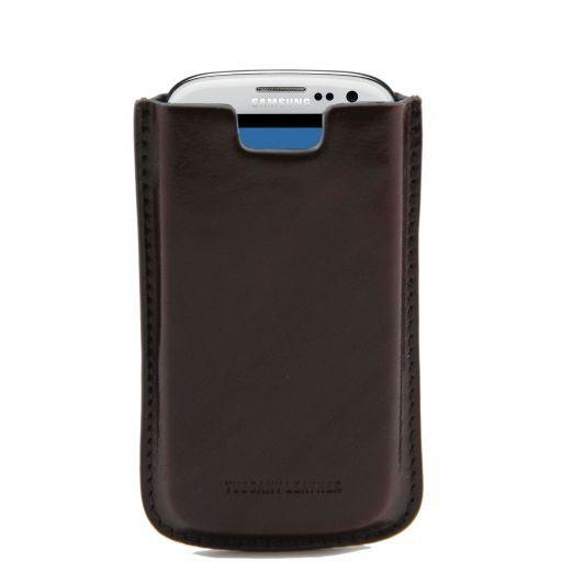 Esclusivo porta Galaxy S3 in pelle Testa di Moro TL141140