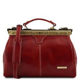 Michelangelo Doctor gladstone leather bag Red TL10038