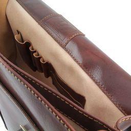 Bolgheri Кожаный портфель на два отделения Черный TL141144