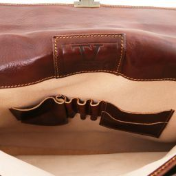 Parma Кожаный портфель на 2 отделения Черный TL10018