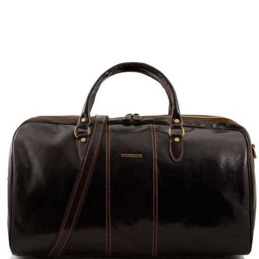 Lisbon Travel leather duffle bag Dark Brown TL10131