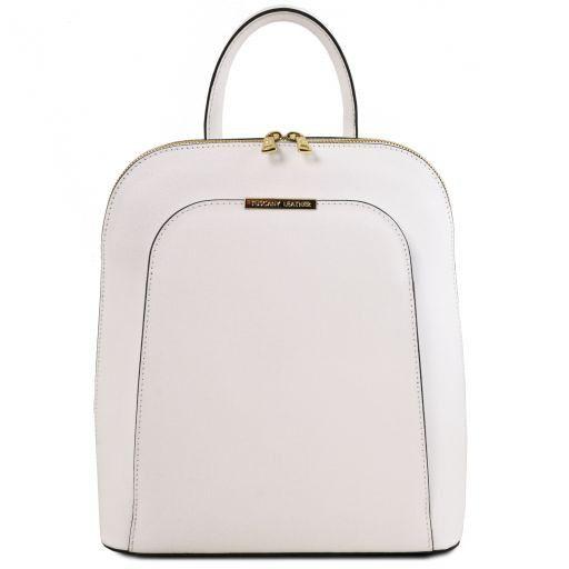 TL Bag Sac à dos pour femme en cuir Saffiano Blanc TL141631