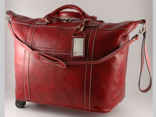 Mahè Trolley leather bag Red TL10132