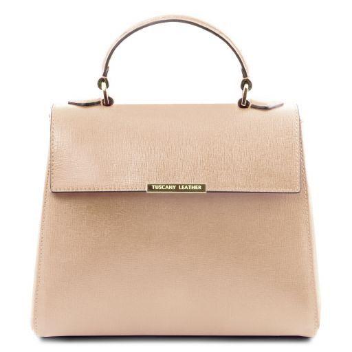 dfb88153f16a TL Bag Small Saffiano Leather Duffel bag Nude TL141628