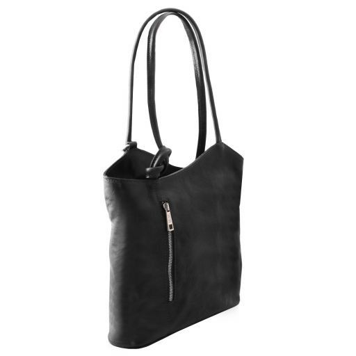 Patty Leather convertible bag Black TL141497