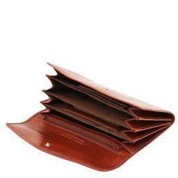 Exklusive Damenbrieftasche aus Leder Braun TL140786