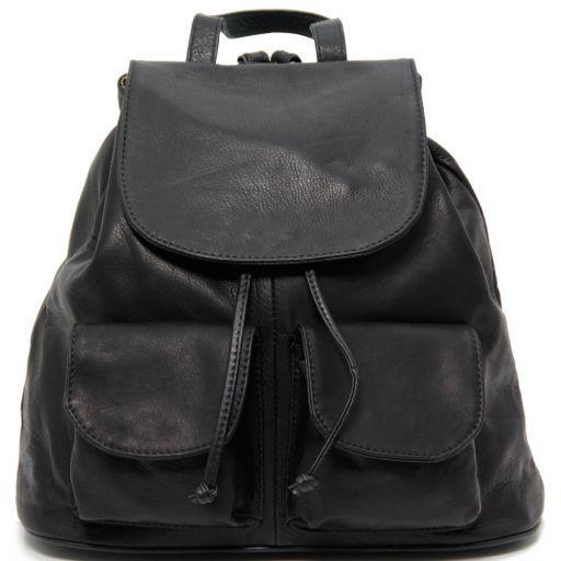 Seoul Leather backpack Large size Black TL90142