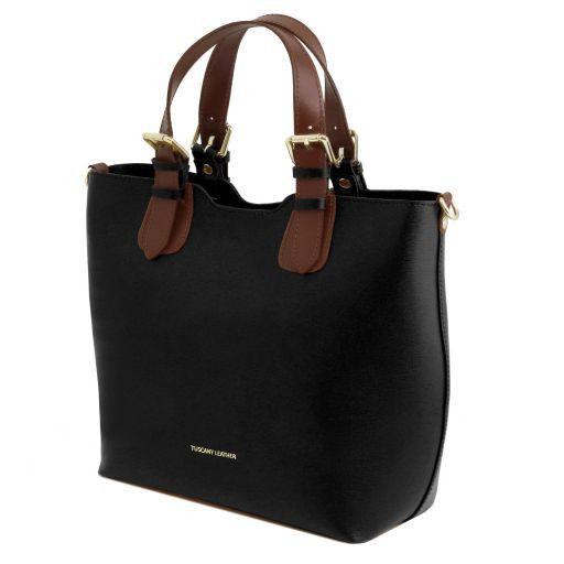 TL Bag Borsa shopping in pelle Saffiano Nero TL141696