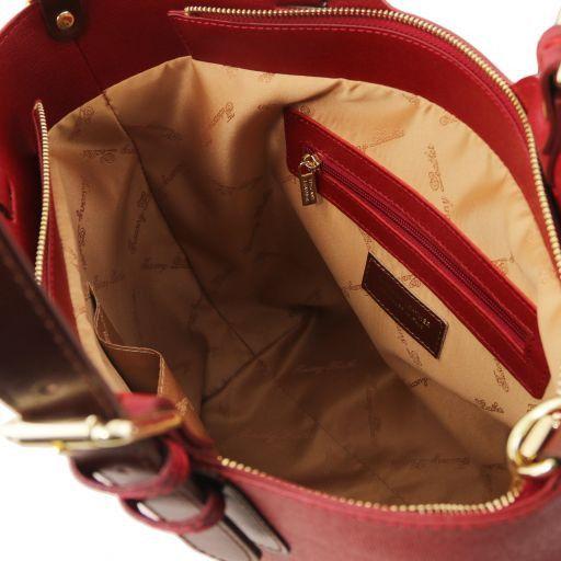 TL Bag Sac cabas en cuir Saffiano Rouge TL141696