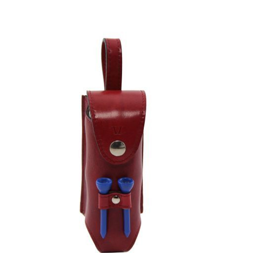 Esclusivo porta palline da golf 3 palline Rosso TL141160