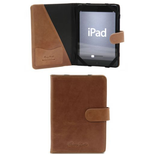Porta iPad Mini 4 en piel con botón Miel TL141171