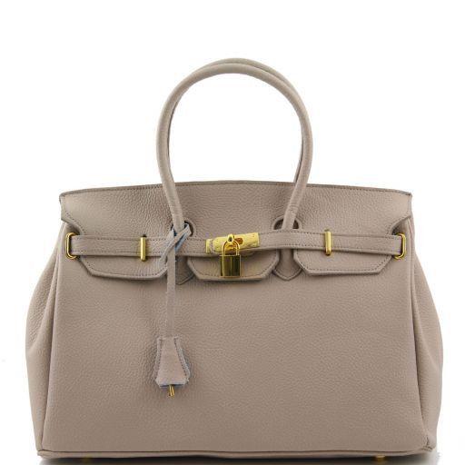 TL Bag Borsa a mano media con accessori oro Talpa chiaro TL141174