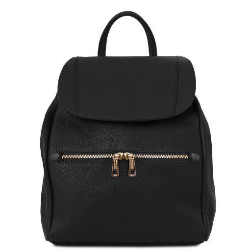 TL Bag Soft leather backpack for women Black TL141697