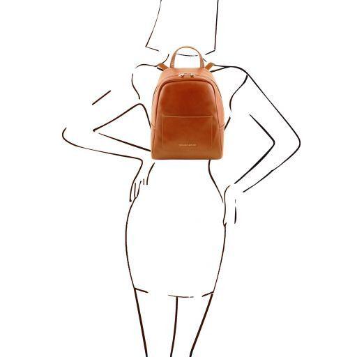 TL Bag Mochila pequeño en piel para mujer Miel TL141614