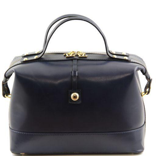 TL Bag Bauletto medio in pelle Blu TL141190