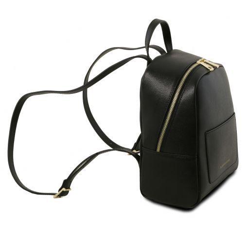 TL Bag Mochila pequeño en piel Saffiano para mujer Negro TL141701