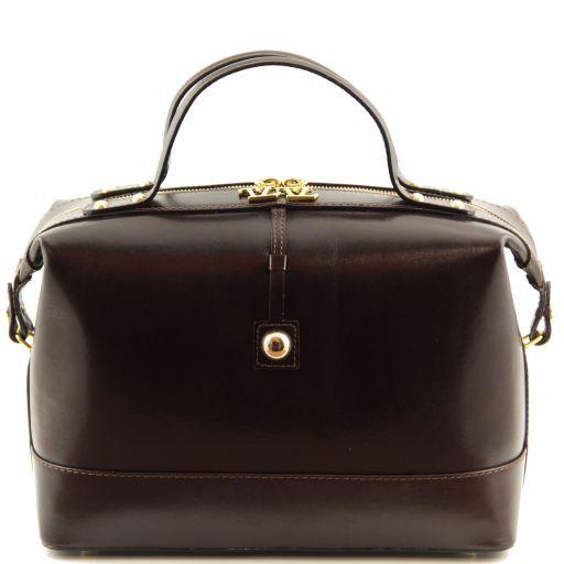 TL Bag Leather duffel bag Dark Brown TL141190