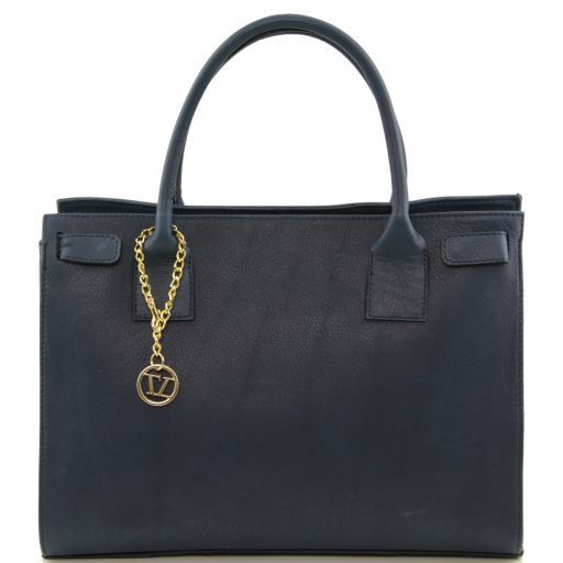 TL Bag Soft leather bag with golden hardware Blue TL141191