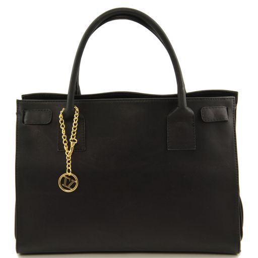 TL Bag Borsa morbida con pendente dorato Nero TL141191